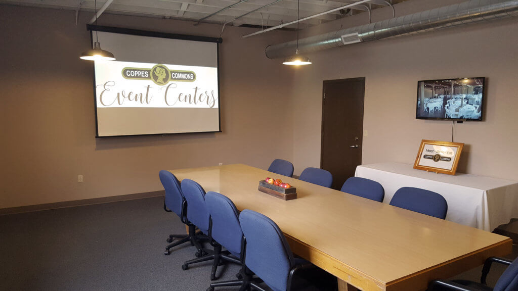 Rent our conference room for business meetings. Comfortable chairs, conference table, projector, white boards and optional catering