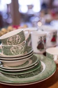 Dutch Lady Antiques Green Kitchenware