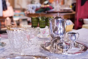 Dutch Lady Antiques Glassware and Teaset