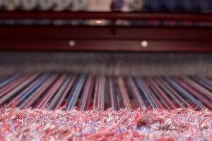 Lera's Rugs Red Rug on Loom