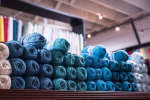 Market Street Fabric Co Blue Yarns