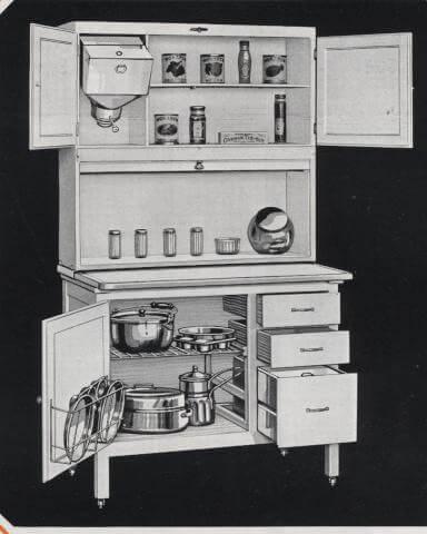 hoosier cabinet dating
