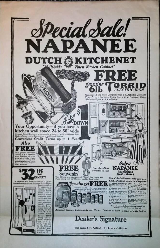 Dutch Kitchenete Ad