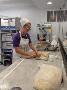 twisting dough