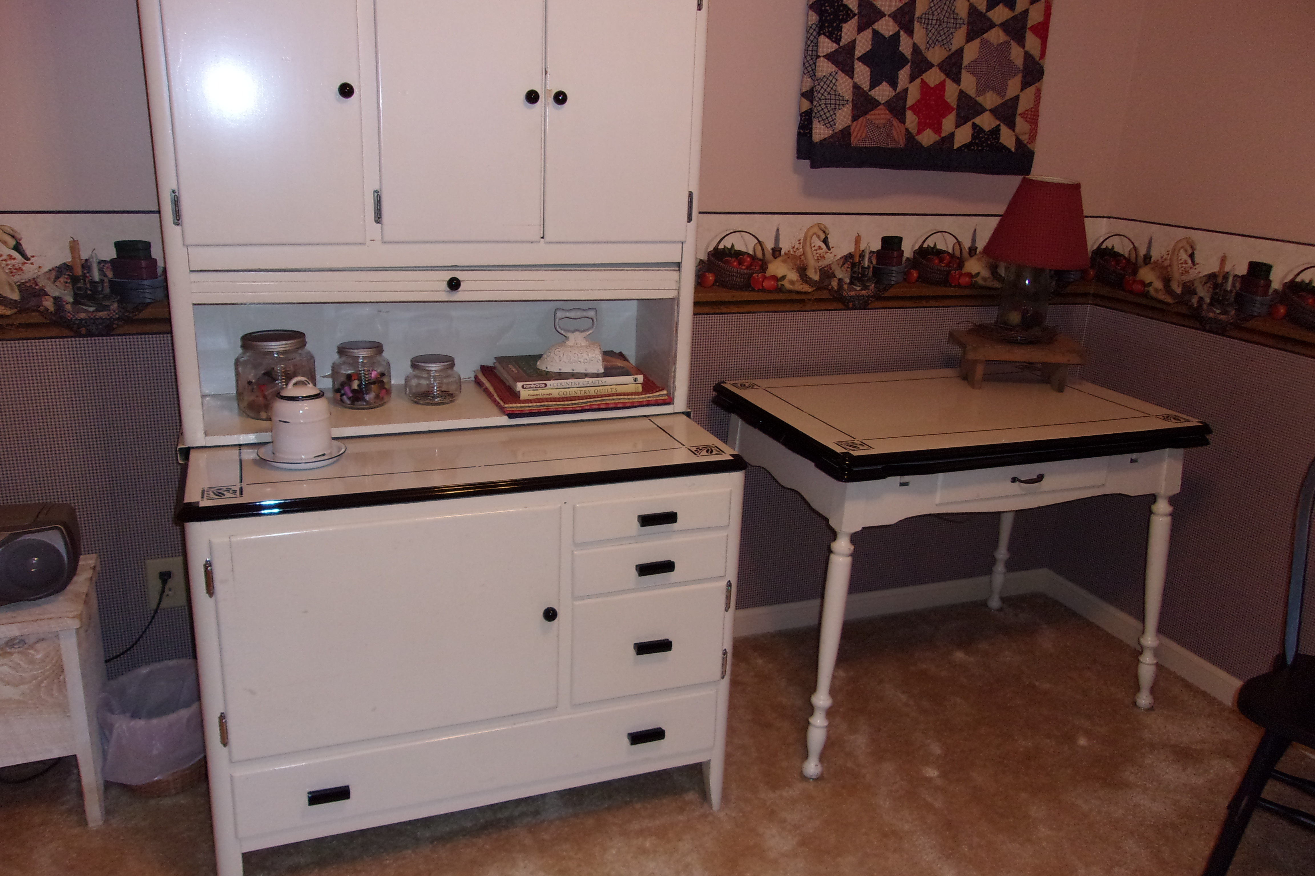 Manufactured By Mutschler Furniture In Nanee My Mother Was A Housekeeper For Mr And He Gave Her The Hoosier Cabinet As Wedding Gift
