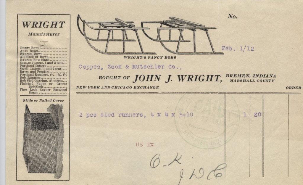 Wright invoice